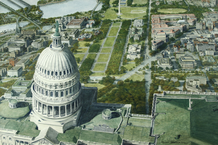 Bird's-Eye View of Capitol Dome and the Mall by Ronald Thompson