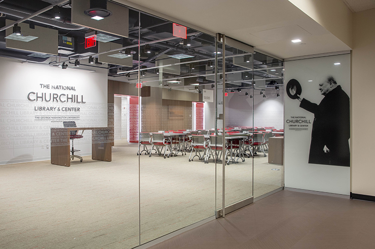 George Washington Universitys National Churchill Library And Center Opens At Gelman