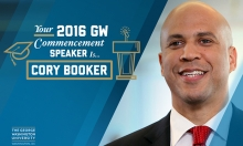U.S. Sen. Cory Booker will deliver the George Washington University's 2016 commencement address