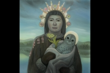 "Linda Infante Lyons, ""St. Katherine of Karluk,"" oil on canvas, 2016"