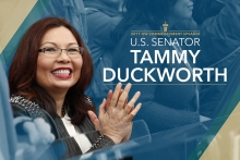 U.S. Sen. Tammy Duckworth will deliver the George Washington University's 2017 commencement address