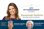 NBC News' Savannah Guthrie Named George Washington University's 2019 Commencement Speaker